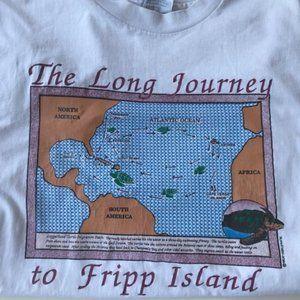 Fripp Island SC T Shirt Turtle Migration Ocean VTG
